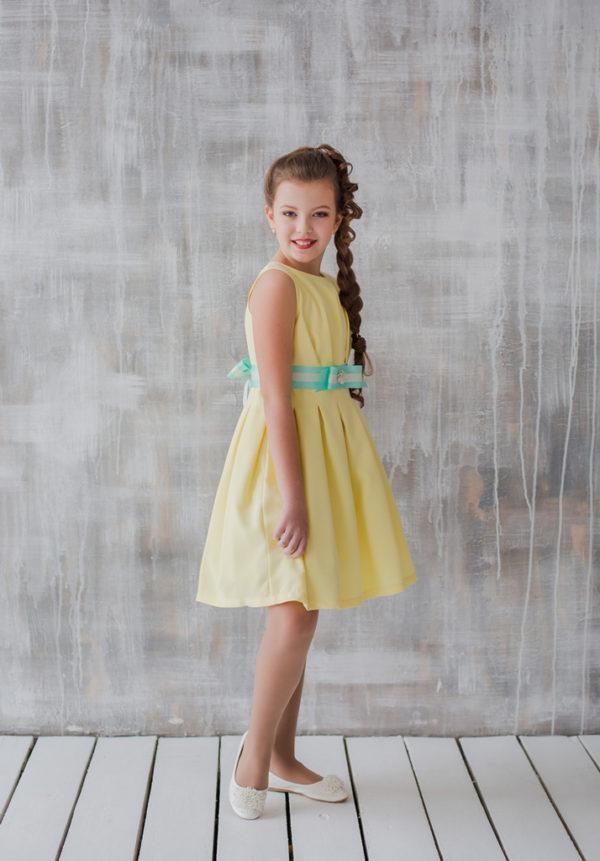 стильное платье для подростка фуксия