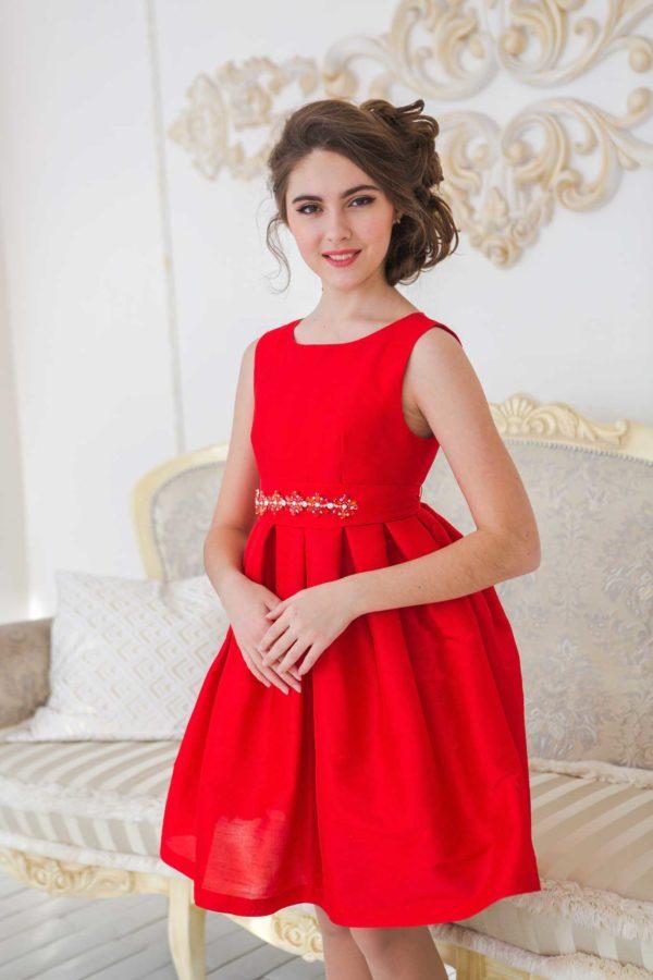 красное платье для девочки