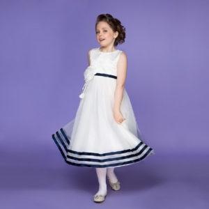 Белое платье для девочки Бель