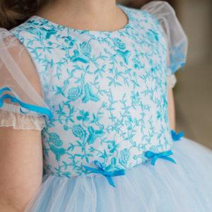 голубое бальное платье Barbie