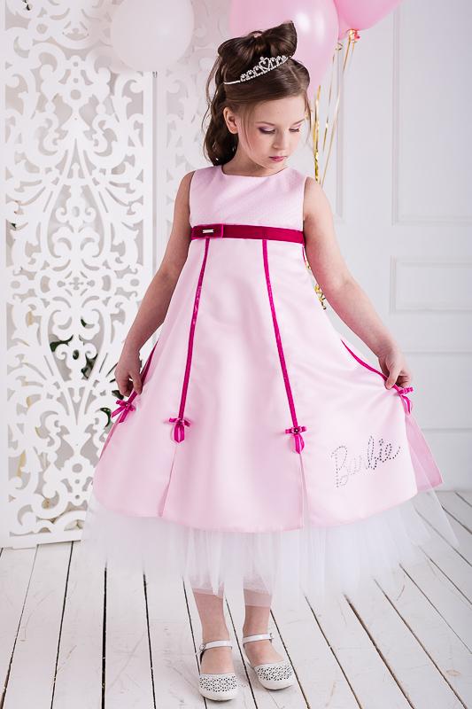 Нарядное платье для девочки А-силуэта Barbie