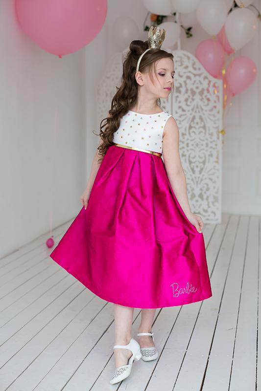 Стильное нарядное платье для девочки