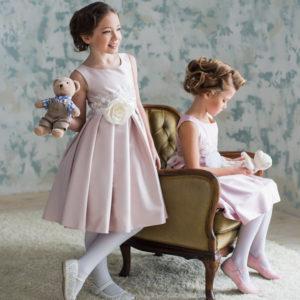 нарядное платье для девочки с кружевом Сиеста