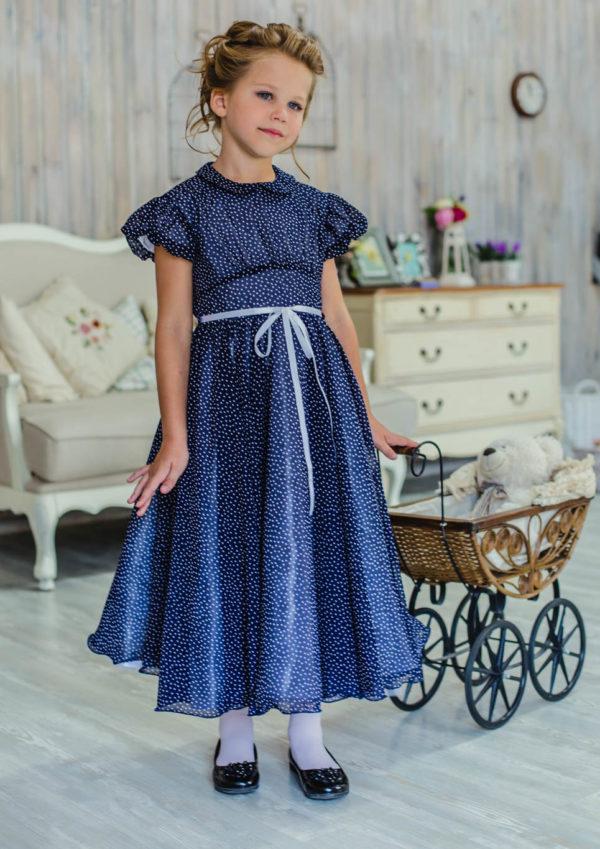 пышное платье +в горошек +для девочки