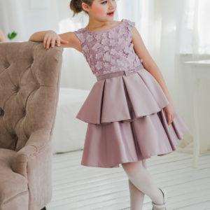 платье для девочки с кружевом