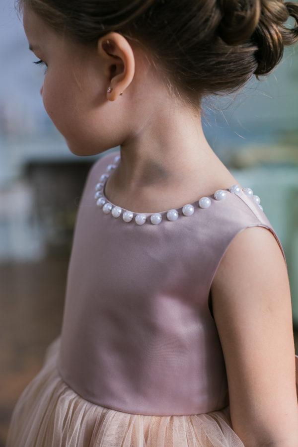 бальное платье для девочки с бусинами