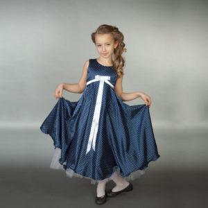 классическое платье А-силуэта для девочки