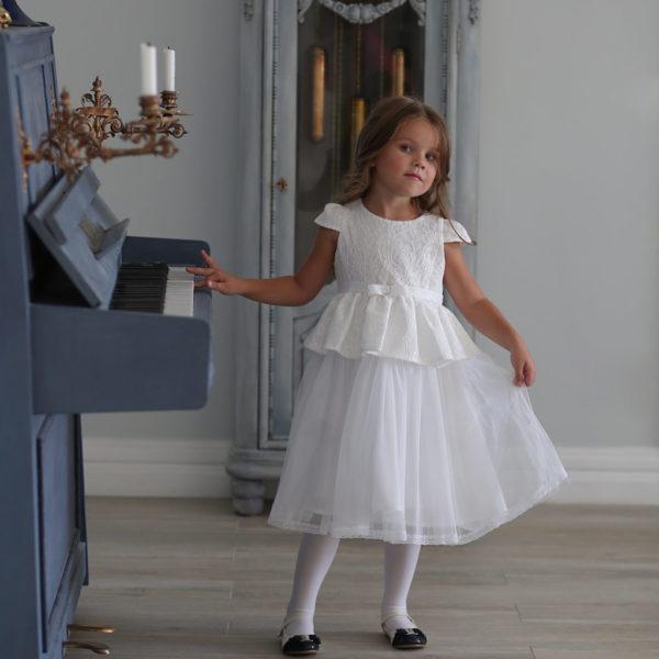 белое кружевное платье для девочки