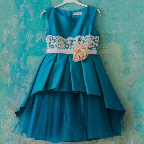 нарядное платье для девочки изумруд