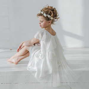 белое легкое платье для девочки