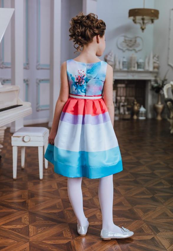 платье цветочный принт