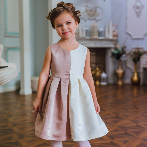 двухцветное платье для девочки
