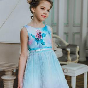 нарядное платье с плиссировкой