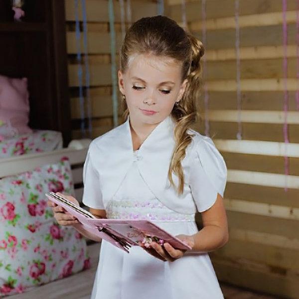 болеро для девочки короткий рукав
