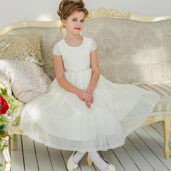 нарядные платья +для девочек кружево белое