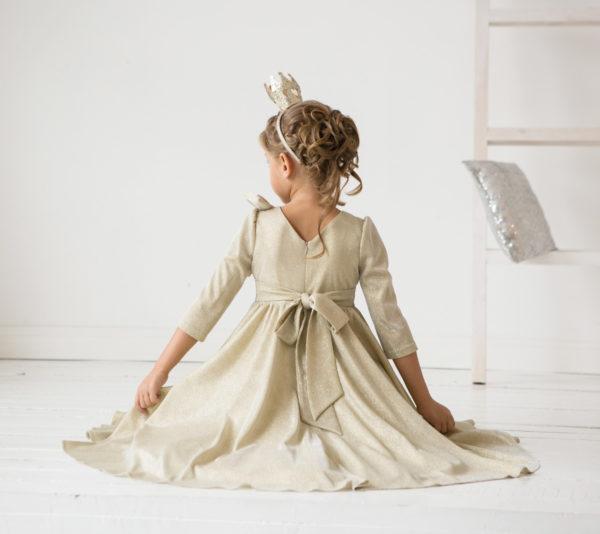 золотое платье +для девочки принцесса