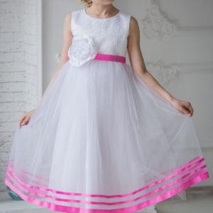 белое бальное платье +для девочки