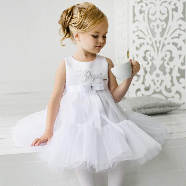 Белое платье +для маленькой девочки