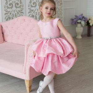 Розовое пышное платье +для девочки Барби