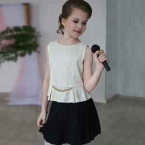 нарядный комплект юбка топ для девочки