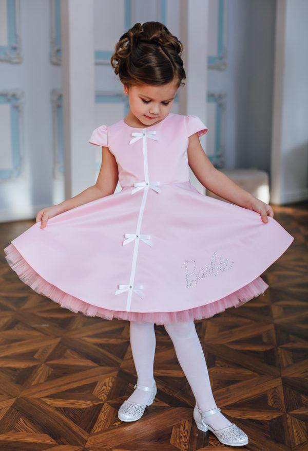 нарядное розовое платье +для девочки