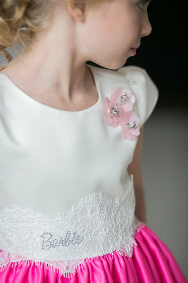 длинное торжественное платье +для девочки +в стиле Barbie