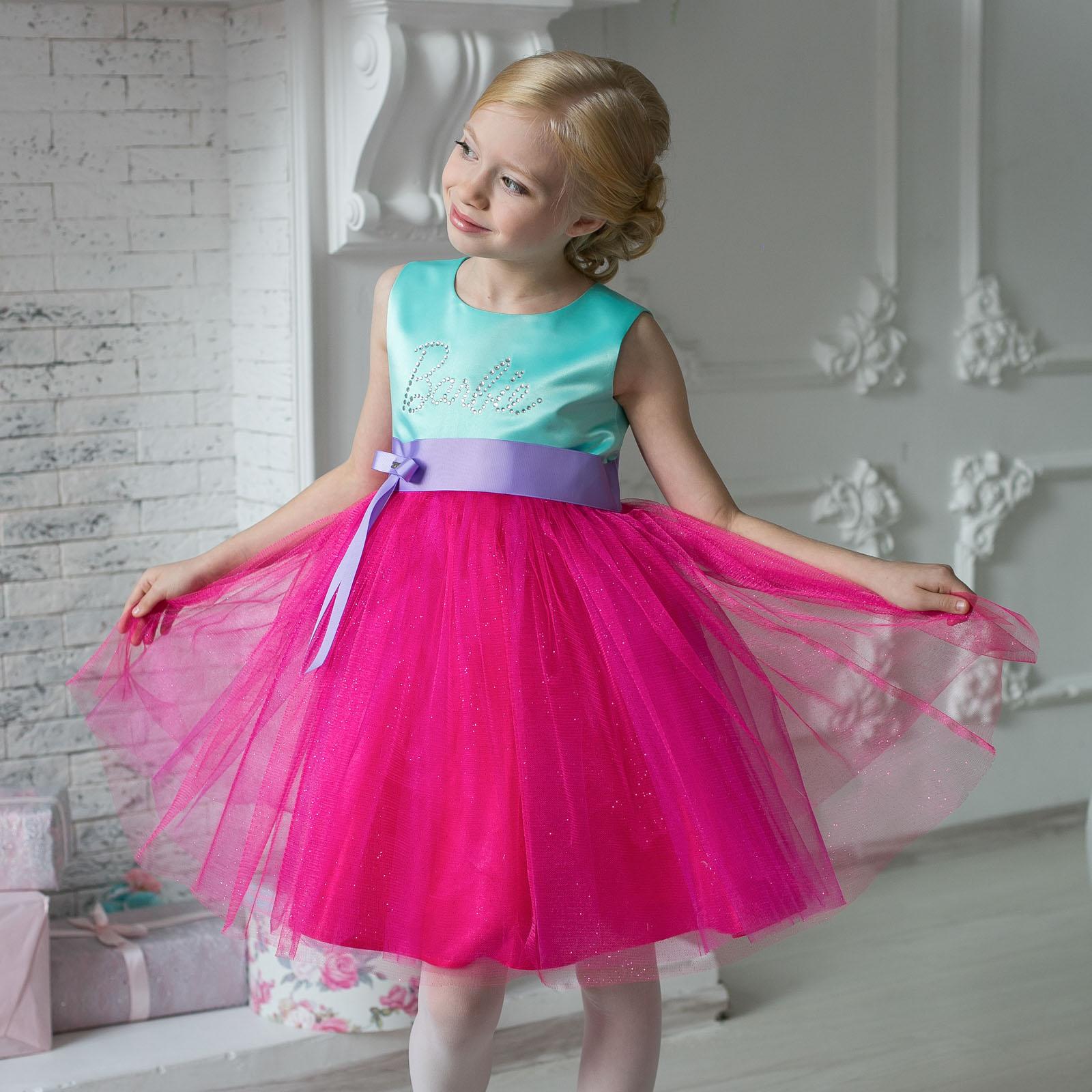 5a01ff5fbaa Коктейльное платье Barbie™ 7134 — Нарядные платья для девочек ...