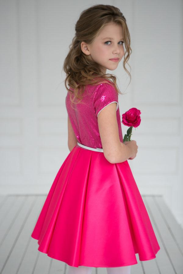 нарядные платья +для девочек +с пайетками