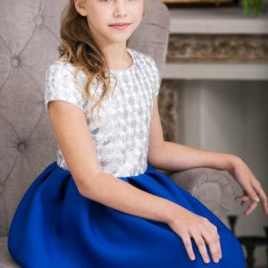 серебряное блестящее платье +для девочки Новый год