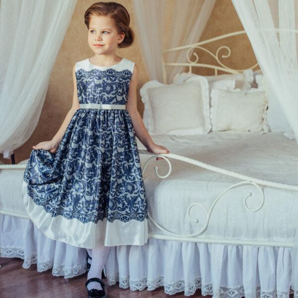 нарядные платья с принтом для девочки