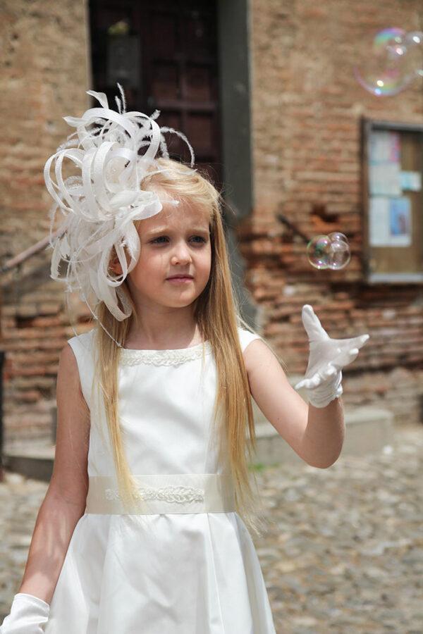 белое длинное платье для девочки