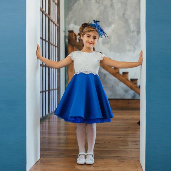 платье на выпускной в детский сад с кружевом