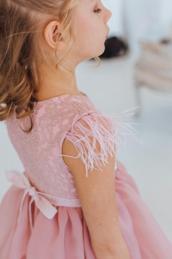платье +с кружевом +для девочки