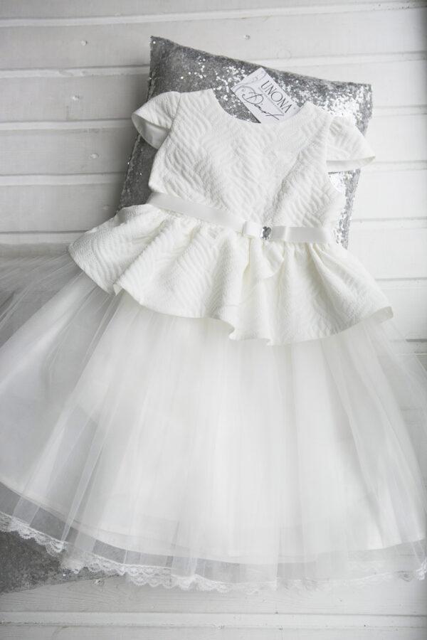Белое бальное платье для малышки девочки