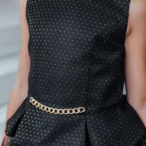 нарядный топ юбка для девочки черный