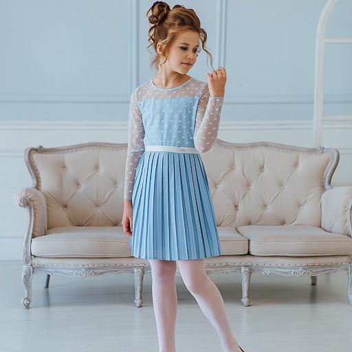 платье плиссе для девочки