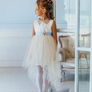 детское платье с сеткой пышное