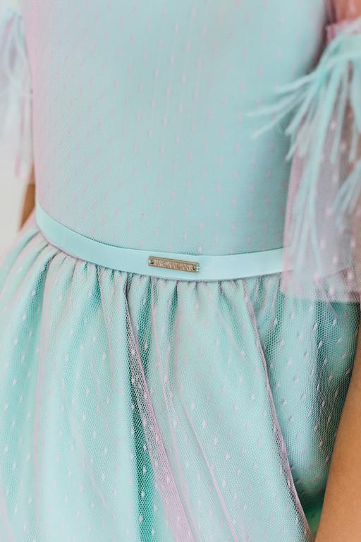 детское платье с сеткой сверху