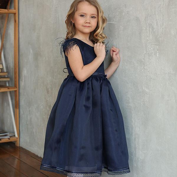 платье для девочки из органзы