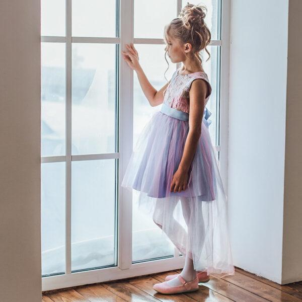 платье со шлейфом для девочки