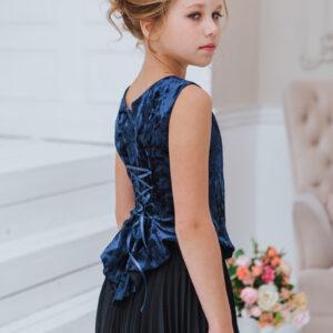 нарядный комплект для девочки бархатный топ пышная юбка