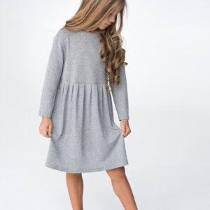 Платье трикотажное детское с бантом