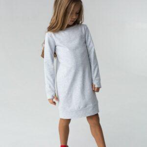 Платье трикотажное короткое для девочки