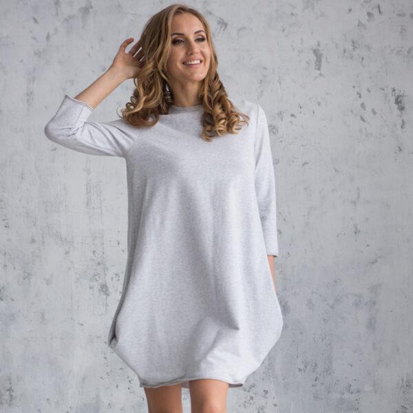 трикотажное платье с зауженным низом для женщины