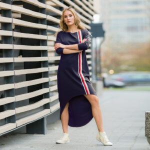 трикотажное спортивное платье для женщины