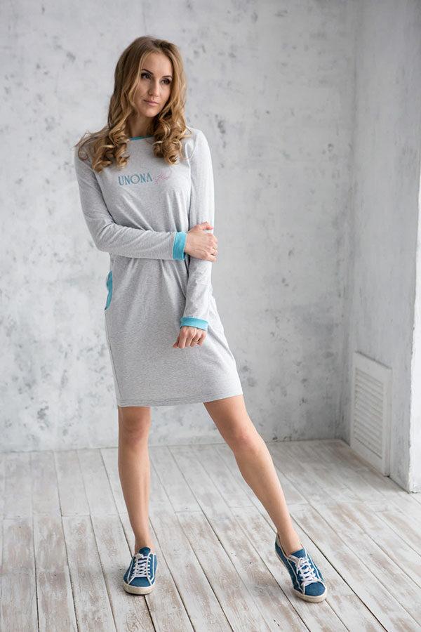 спортивное трикотажное платье женское