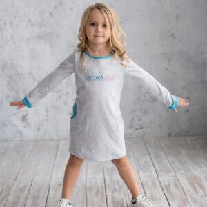 спортивное трикотажное платье для девочки