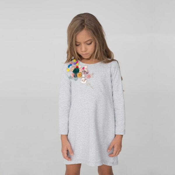 платье трикотажное с вышивкой для девочки
