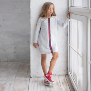 Спортивное платье для девочки трикотажное