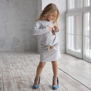 Свитшот и юбка трикотажные для девочки
